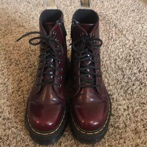 Vegan Jadon II Platform Boots in Cherry Red